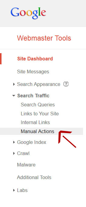 google-manual-actions